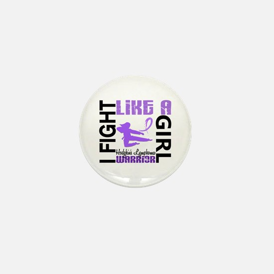 Licensed Fight Like a Girl 3.2 H Lymph Mini Button