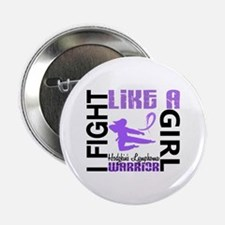 "Licensed Fight Like a Girl 3.2 H Lymp 2.25"" Button"