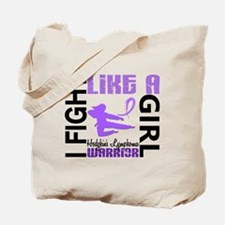 Licensed Fight Like a Girl 3.2 H Lymphoma Tote Bag