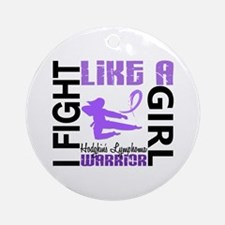 Licensed Fight Like a Girl 3.2 H Ornament (Round)