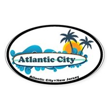 Atlantic City NJ - Surf Design. Decal