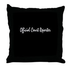 Official Court Reporter Throw Pillow