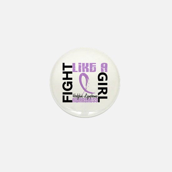 Licensed Fight Like a Girl 3.3 H Lymph Mini Button