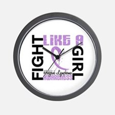 Licensed Fight Like a Girl 3.3 H Lympho Wall Clock