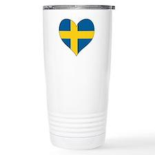 Flag in Heart Travel Mug