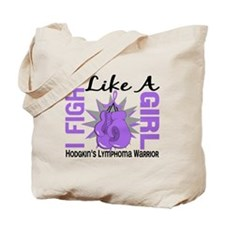 Licensed Fight Like a Girl 8.2 H Lymphoma Tote Bag