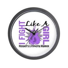 Licensed Fight Like a Girl 8.2 H Lympho Wall Clock