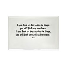 Positive Thinking Rectangle Magnet (10 pack)