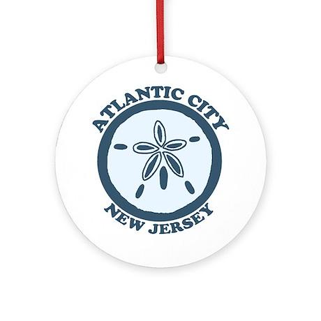 Atlantic City NJ - Sand Dollar Design Ornament (Ro