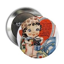 "Cute Little cupid 2.25"" Button"