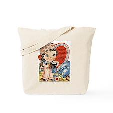Retro Valentine Cutie Pie Tote Bag