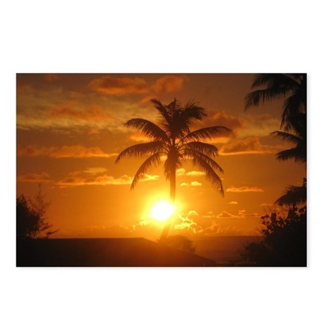 Hawaii Palm Sunrise Postcards (Package of 8)