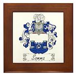 Somma Coat of Arms Framed Tile