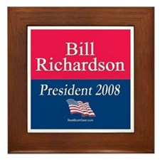 """Bill Richardson President"" Framed Tile"