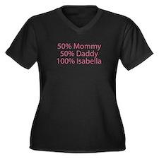 100% Isabella Women's Plus Size V-Neck Dark T-Shir