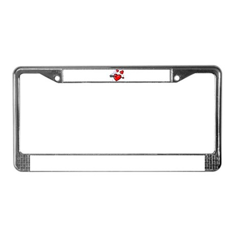 HEARTS & ARROW {16} License Plate Frame