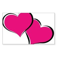 HEARTS {29} : hot pink Decal