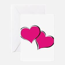 HEARTS {30} : hot pink Greeting Card