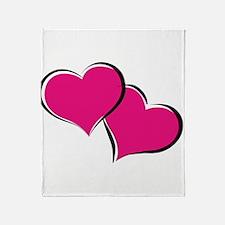 HEARTS {30} : hot pink Throw Blanket