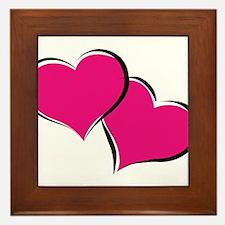 HEARTS {30} : hot pink Framed Tile