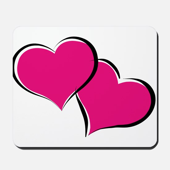 HEARTS {30} : hot pink Mousepad