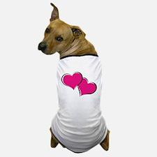 HEARTS {30} : hot pink Dog T-Shirt