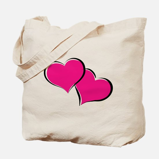 HEARTS {30} : hot pink Tote Bag