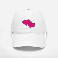 HEARTS {30} : hot pink Baseball Baseball Cap