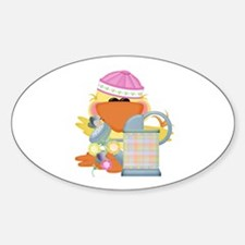 Baby Quackups 2 Oval Decal