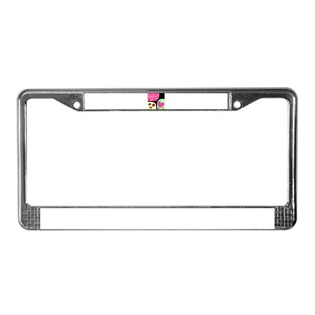 VALENTINES DAY COLLAGE License Plate Frame