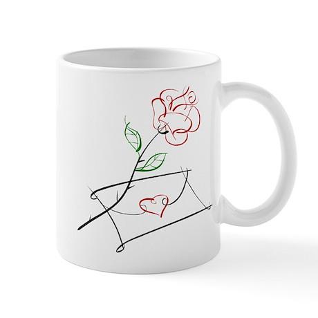 ROSE & VALENTINE {1} : red Mug