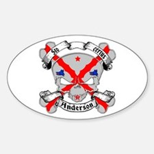 Anderson Family Crest Skull Decal