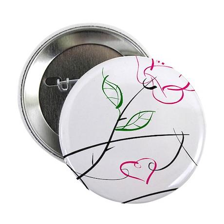 "ROSE & VALENTINE {1} : pink 2.25"" Button (10 pack)"