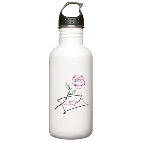 ROSE & VALENTINE {1} : pink Stainless Water Bottle