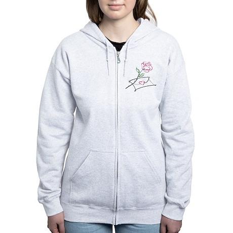 ROSE & VALENTINE {1} : pink Women's Zip Hoodie