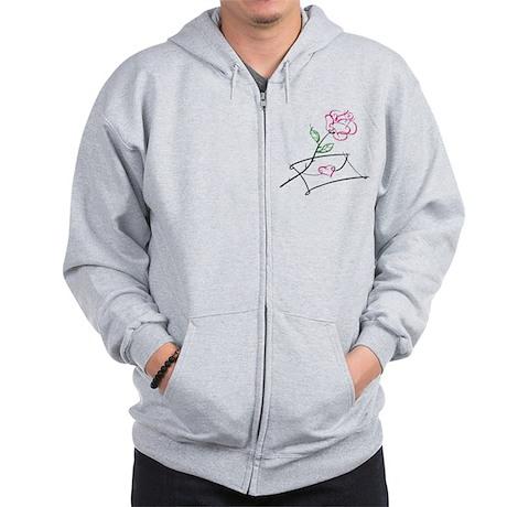 ROSE & VALENTINE {1} : pink Zip Hoodie