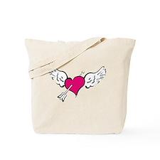 HEART, WINGS & ARROW {1} : pi Tote Bag