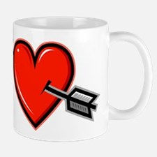 HEART & ARROW {19} : red Mug