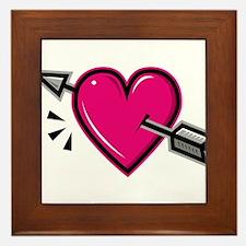 HEART & ARROW {19} : pink Framed Tile