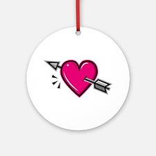 HEART & ARROW {19} : pink Ornament (Round)