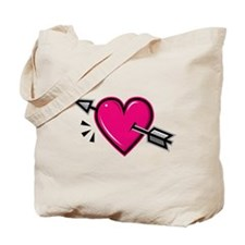 HEART & ARROW {19} : pink Tote Bag