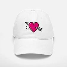 HEART & ARROW {19} : pink Baseball Baseball Cap
