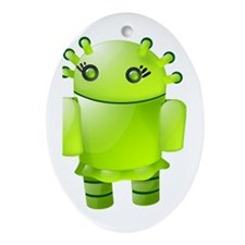 Funny Androids Ornament (Oval)