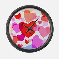 HEARTS {32} Large Wall Clock