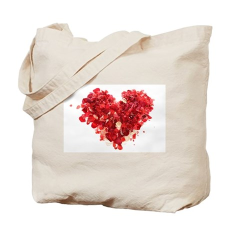 ROSE PETAL HEART Tote Bag