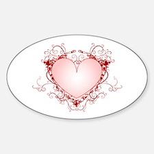 HEART {34} Sticker (Oval)