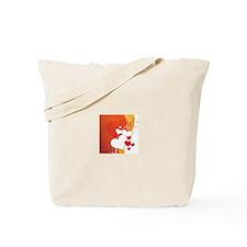HEARTS {35} : orange,yellow,w Tote Bag