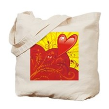 HEARTS {36} : red/yellow Tote Bag
