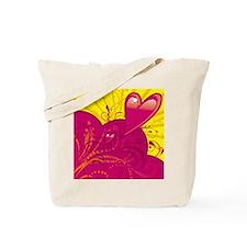 HEARTS {36} : magenta/yellow Tote Bag