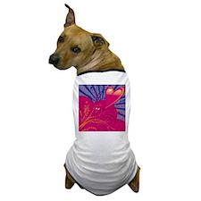 HEARTS {36} : pink/blue Dog T-Shirt